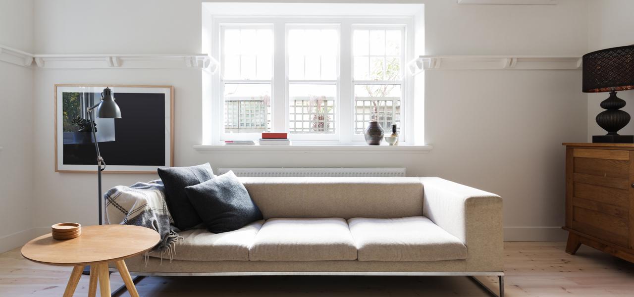 Home Interior with sash window
